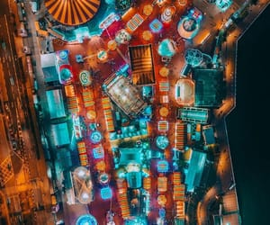 above, beautiful, and city lights image