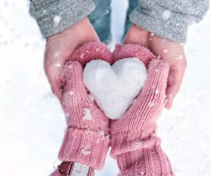 snow, love, and christmas image