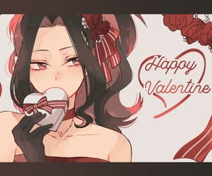 anime, girl, and valentines image