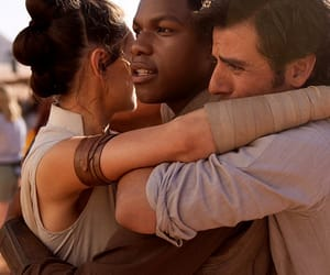 sw, rey, and finn image