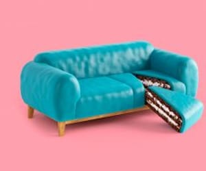 cake, color, and sofa image