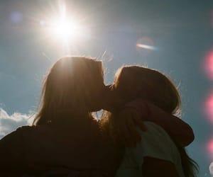 kiss, girls, and lesbian image