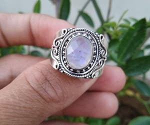 sterling silver, wedding ring, and hippie ring image