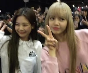 lisa, blackpink, and jennie kim image