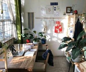 plants, room, and desk image