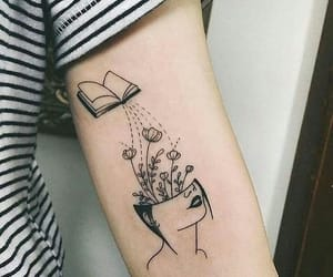 book, imagine, and tatto image