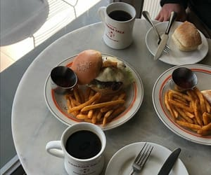 burger, coffee, and diner image