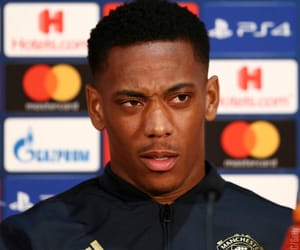 celebrities, anthony martial, and football image