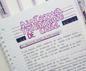 notes, purple, and school image