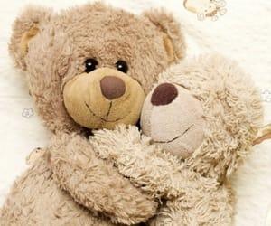 baby, hug, and teddy bear image
