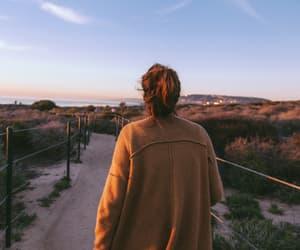 girl, sky, and nature image