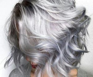 hair, short, and silver image