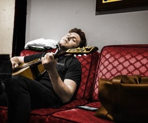 backstage, one direction, and guitar image