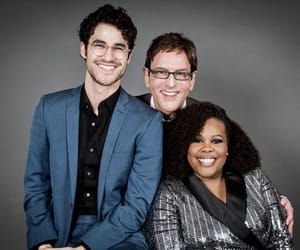 darren criss, amber riley, and criss colfer image