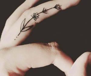 flower, minimal, and tattoo image