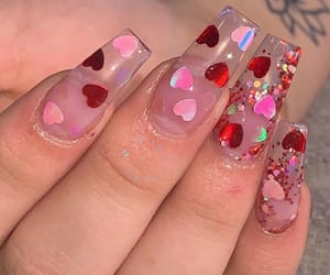 nails, valentine, and love image