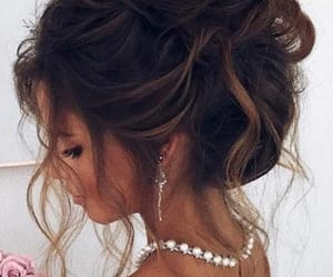 ball, brunette, and updo image