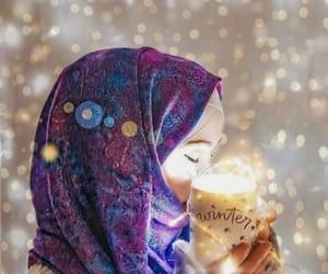 hijab, islam, and winter image