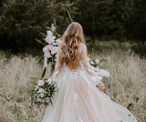beautiful, wedding, and bridal image