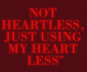 heart, red, and heartless image