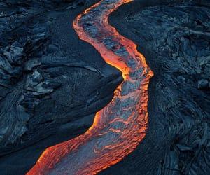 lava, volcano, and landscape image