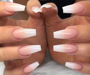 acrylics, french manicure, and acrylic nails image