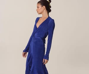 blue dress, dress, and fashion image