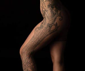 beauty, girl, and tattoo image