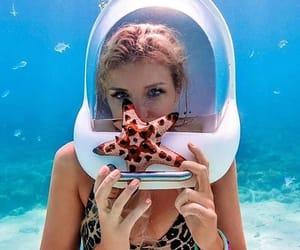 girl, swimmingpool, and sea image