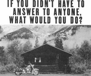 bike, cabin, and harley davidson image