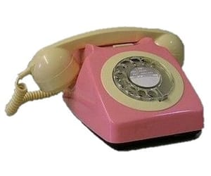 70s, pink, and telephone image