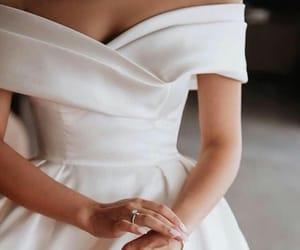 dress, weeding, and ring image