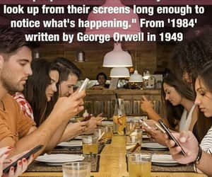 1984, George Orwell, and look up image
