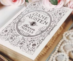 books, jane austen, and vintage image