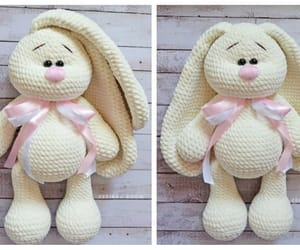 amigurumi, bunny, and crochet image
