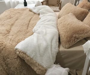 comfortable, comforter, and fluffy image