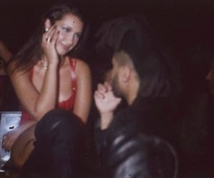 the weeknd, bella hadid, and goals image