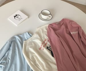 blue, pink, and coffe image