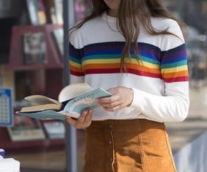 outfit, book, and fashion image