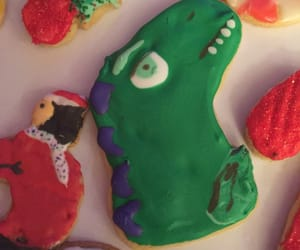 christmas, cookie, and dinosaur image