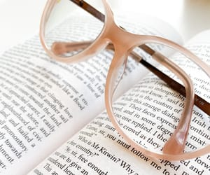 books, glasses, and words image