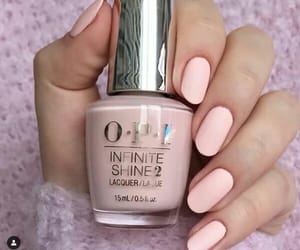 manicure, nails, and pink nails image