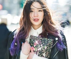 model, purple, and ireneisgood image