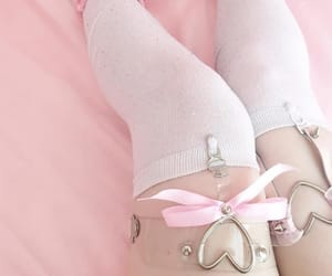 lingerie, medias, and thigh highs image