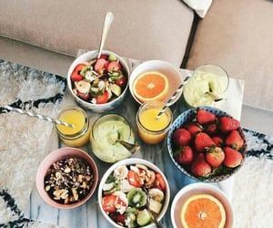 Fruit salad and juice