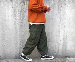 fashion, pants, and orange image