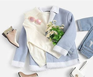 Bleu, flowers, and jeans image