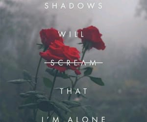 aesthetic, scream, and shadows image