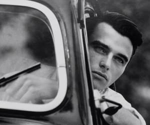 black and white, car, and montgomery clift image
