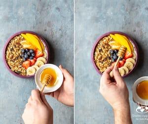 food, fruit, and yogurt image